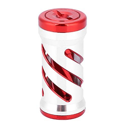 SHYEKYO Perilla de Pesca Diseño ergonómico, para carretes giratorios(Silver Red)