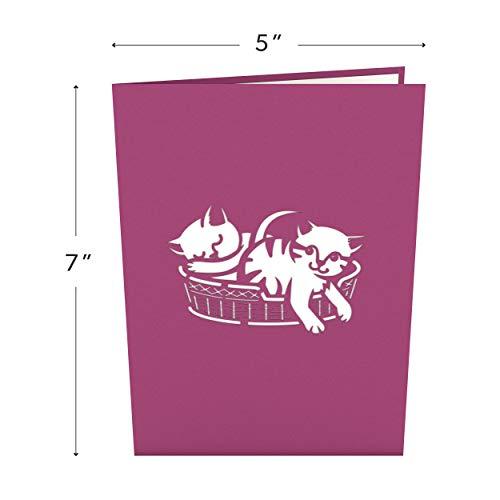 Lovepop Cat Mom Pop Up Card - 3D Card, Mother's Day Card, Animal Card, Pop Up Card, Mother's Day Greeting Card, Card for Mom, Cat Card, Kitten Card Photo #2