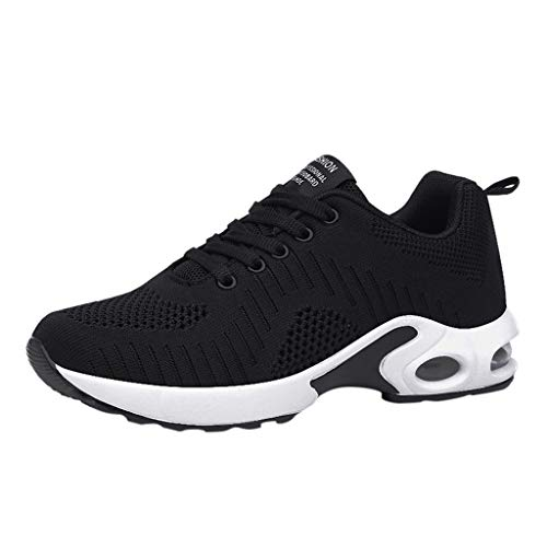 Review Meigeanfang Fashion Breathable Anti-Slip Cushion Sneakers Casual Running Shoes(Black,39)