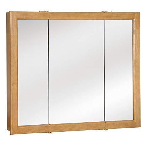 Design House 530576 Richland Mirrored Medicine Cabinet, Nutmeg Oak, 36' W x 30' H