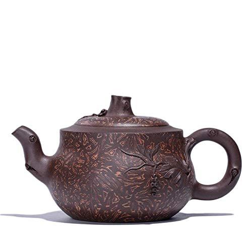 ADSE Purple Clay Teapots Tea Cup Twisted Clay Pot Teapot Grapes Portable Tea Maker Sand Pot (Color : Purple)
