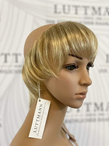 LUTTMANN® SECRET HAIR COLLECTION - Model: SHORT STYLE - Haarteil bei Chemotherapie tragbar unter der Mütze statt Perücke (light-blonde)