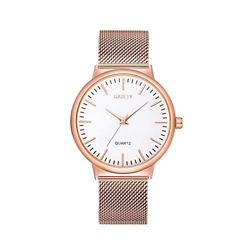 CHMORA Reloj de mujer GAIETY moda moda moda señoras reloj oro rosa nuevo coreano señoras reloj – Regalos para mujer (blanco/1 x reloj)