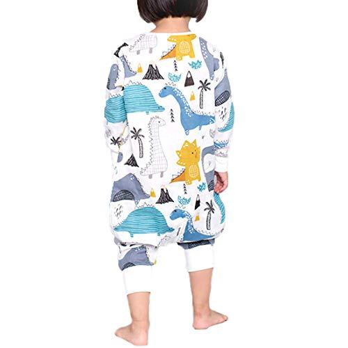 *XIAOYAO Baby Schlafsack, Ganzjahres Schlafsack mit Beinen (80-90CM, Dinosaurier1)*