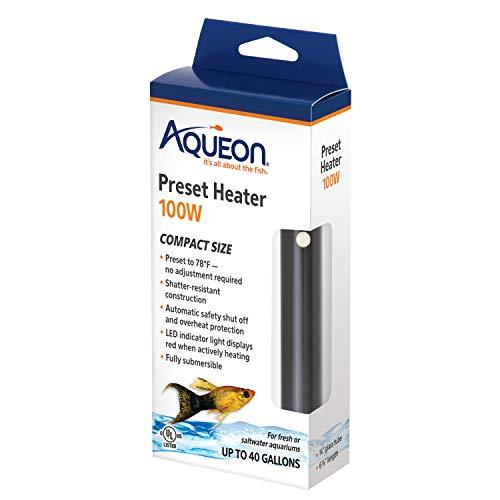 Aqueon 100106252 Preset Heater,Black, 100W