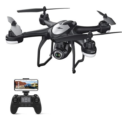 Potensic GPS Drone con Telecamera 1080P HD FPV RC Drone WiFi con Fotocamera Grandangolo Regolabile, Seguimi, Torna a Casa Automaticamente, Mantenere l Altitudine