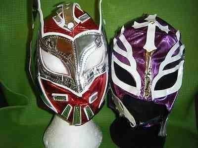 rot sin cara lila rey mysterio wrestling masken wwe kostüm verkleidung kostüm outfit rollenspiel cosplay new mexico maske ray 2 enthalten im preis brand neue serie