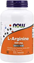 NOW Supplements, L-Arginine 500 mg, Nitric Oxide Precursor*, Amino Acid, 250 Capsules