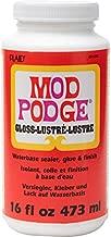 Mod Podge CS11202 Waterbase Sealer, Glue & Decoupage Finish, 16 oz, Gloss, 16 Fl Oz