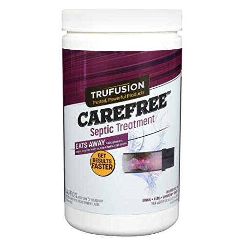 Carefree Septic Tank Treatments 10965 | 25 Doses Septic Tank Enzymes| Monthly Septic Maintenance & Main Line Cleaner | Controls Odors in Sinks, Tub/Shower, Toilets & Garbage Disposals | 20-Oz.