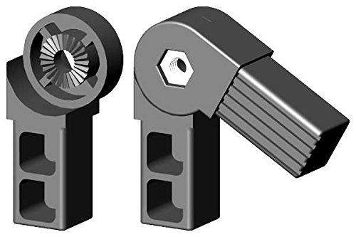 Winkel- Gelenkverbinder für 25x25x1,5mm Aluminiumprofile 45-195° - Arretierbar