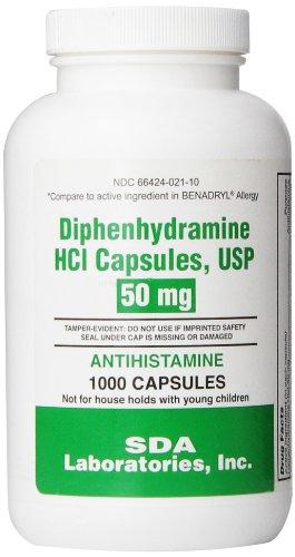 SDA Laboratories, INC Generic Benadryl Allergy - Diphenhydramine (50mg) - 1000 Capsules