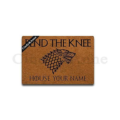 Cindy&Anne Customizable Personalized Bend The Knee Doormat Game of Thrones Entrance Floor Mat Funny Doormat Door Mat Decorative Indoor Outdoor Doormat 30 by 18 Inch