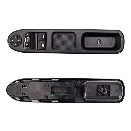 Wshao Store Interruptor de Control de Ventanas de Potencia eléctrica FIT para Peugeot 207 FIT para Citroen C3 2007-2014 6554QC Accesorios para automóviles