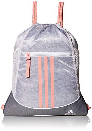 adidas Unisex Alliance II Sackpack, Jersey White/Glory Pink/Grey, ONE SIZE