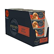 Encore 100% Natural Wet Dog Food, Beef Steak, In Gravy Tin, 156g (Pack of 12)