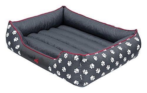 Hobbydog PRELSZ2 Hundebett Hundesofa Hundekorb Tierbett Prestige mit Pfoten, Größe XL, 85 x 65 cm, grau