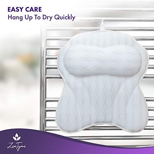 Bath Pillow Luxury Bathtub Pillow, Ergonomic Bath Pillows for Tub Neck and Back Support, Bath Tub Pillow Rest 3D Air Mesh Breathable Bath Accessories for Women