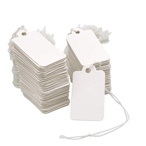 500piezas Etiquetas de Precio 45x25mm con Cordel para Joyas, Ropa, Artesanía