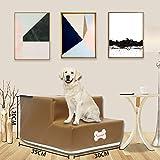 Fenverk Hundetreppe Katzentreppe Haustiertreppe mit 2 Stufen/3 Stufen, 30 x 35 x 30 cm,...