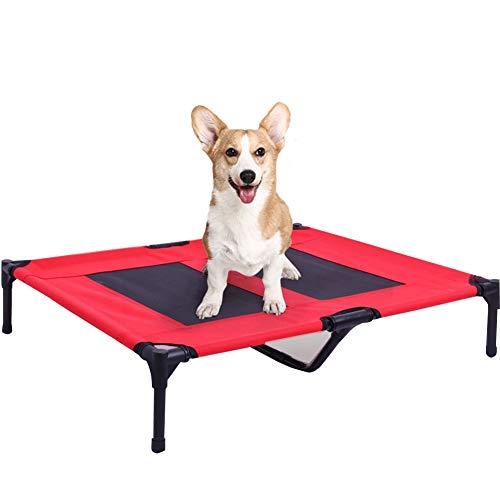 Cama elevada for mascotas |Malla, cuna de mascota elevada, estilo de plataforma suspendida o suspendida for enfriamiento, mastique malla de malla, enfríe la planta superior, la mejor cuna for perros