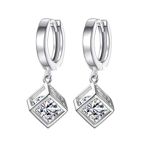 Mypace 925 Silber Gold Set Creolen hängende Ohrringe Für Damen Mode Temperament Damen Kubikzircon Ohrclip Damen Ohrschmuck