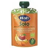 Hero Solo Pouch Frutta Frullata 100% Bio Mela, Banana e Carota, senza Zuccheri Aggiunti, C...