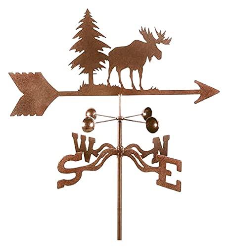 Jardín que indica la dirección del viento Señoras del tiempo for el tejado Vane Vane de Moose Escena de la granja Vane del clima Vane del viento Indicador de viento de acero inoxidable Durable con sop