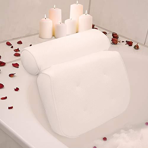 LADICO ® Badewannenkissen - Mit praktischem Haken zum Aufhängen - Innovatives geruchsneutrales Material - Zuverlässiger Halt Dank starken Saugnäpfen - Höchster Komfort Dank optimaler Form
