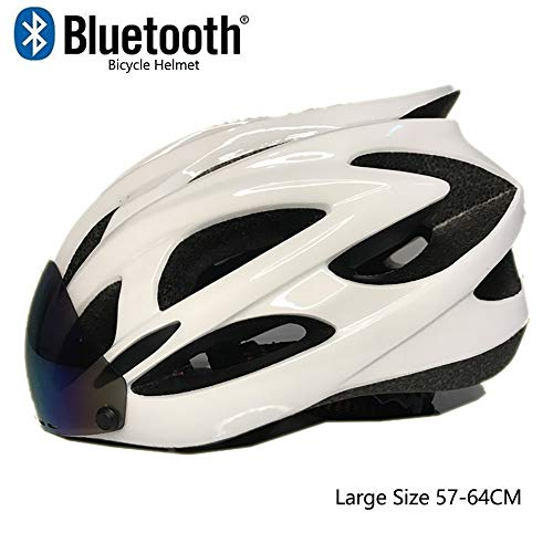 ETScooter Casco Bicicleta con Bluetooth,Adultos Casco de Ciclismo Especializado Casco Bici con...
