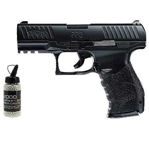 G8DS Set: Softair Walther PPQ HME Vollmetall - 0,5 Joule 6mm Federdruck ab 14 Jahren freigegeben Softair Munition Bio BBS Premium Selection 2000 Stück 0,20 g 6mm