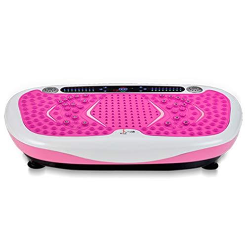 4D Vibrationsplatte VP300 | Fitness Vibrationstrainer + Bluetooth-Lautsprecher + Fernbedienung + Magnotherapie +120 Stufen | Fitnesstraining Von Zu Hause Aus(Size:45 * 34 * 12C M,Color:02)
