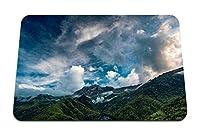22cmx18cm マウスパッド (山空雲風景森) パターンカスタムの マウスパッド