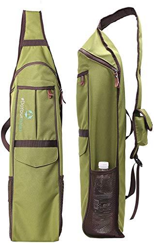 #DoYourYoga Yogatasche »Indra, wasserabweisenden & widerstandfähigen Polyester/Für Yogamatten bis Größe von 190x62x0,6 cm/Yogarucksack mit Vielzahl an Fächern für Yogazubehör: Olive-grün