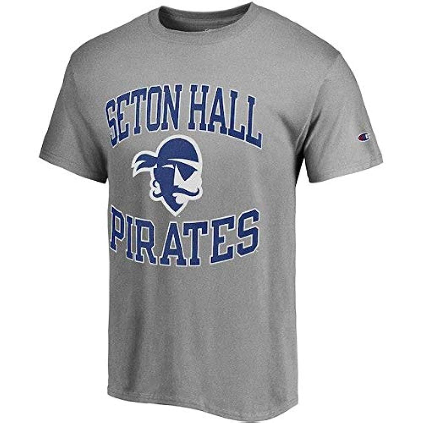 靴下加速度違反Champion Champion Seton Hall Pirates Gray Tradition T-Shirt スポーツ用品 【並行輸入品】