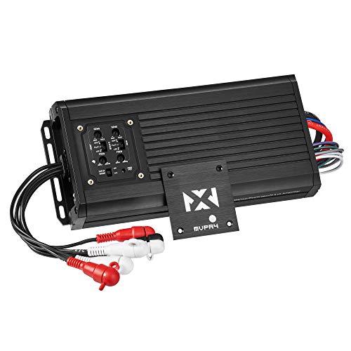 NVX MVPA.4 True 400 watt RMS 4-Channel Bridgeable Marine-V Series Micro Class D Compact Car Amplifier
