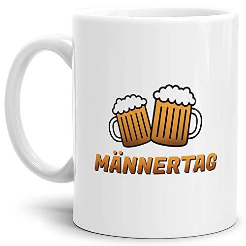 Tassendruck Herrentag-Tasse Prost Weiss/Mug/Cup/Kaffeetasse/Papa/Vater/Männertag/Betrunken/Flieder/Fahrrad/Bier/Beste Qualität - 25 Jahre Erfahrung