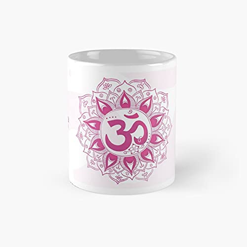 Om · Sahasrara 7th Chakra Classic Mug - A Novelty Ceramic Cups Inspirational Holiday Gifts For Morther's Day, Men & Women, Him Or Her, Mom, Dad, Sister, Brother, Coworkers, Bestie.