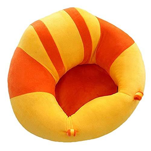 Ouqian Kleinkinder Sofas Säuglingsbabysitting-Stuhl-Baby-Stützboden-Sitzsofa-Kinder, die Lernen, Sofa Chair Colorblock zu sitzen Kindersofas (Farbe : Orange+Yellow, Größe : Einheitsgröße)
