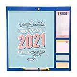 Mr. Wonderful Calendario familiar - Venga, família, ¡Nos espera un 2021 lleno de alegría!