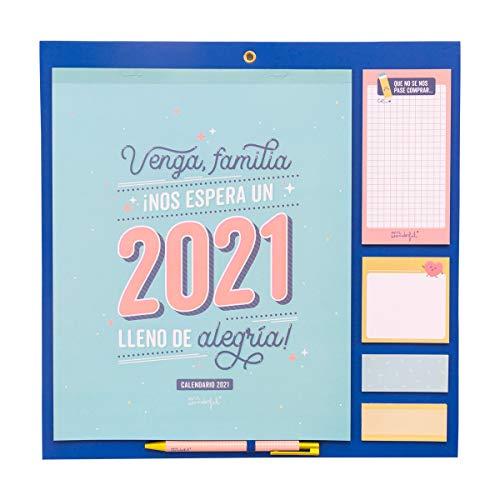 Mr. Wonderful Calendario familiar - Venga, família, ¡Nos espera un 2021 lleno...