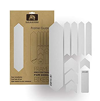 MEGHNA Bike Frame Guard Protecter Waterproof Sticker Decals High Impact PVC Material Clear Transparent