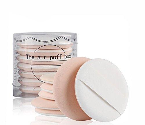 1 Set (7PCS) Air Cushion Maquillage Éponge Poudre Puff Puff Wet and Dry Double-usage Maquillage Éponge Avec Boîte pour BB CC Crème Liquide Fondation (Beige)