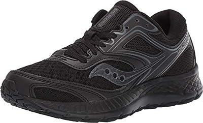 Saucony Women's VERSAFOAM Cohesion 12 Road Running Shoe, Grey/Teal, 9.5 M US