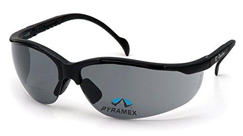 Pyramex V2 Readers Safety Eyewear, Gray +2.0 Lens With Black Frame