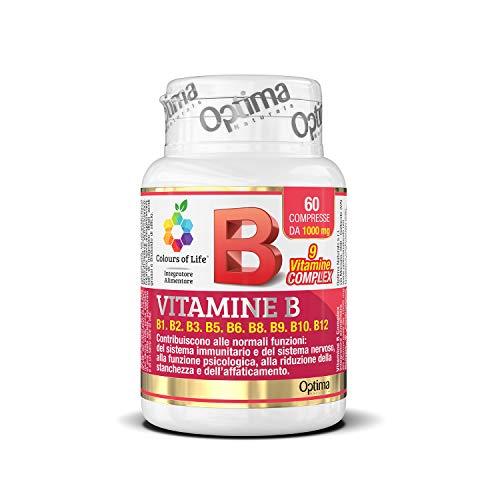 Colours of Life Vitamine B Complex - Integratore di Vitamine del Gruppo B - Senza Glutine e Vegano, 60 Compresse