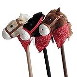 caballo con palo de madera