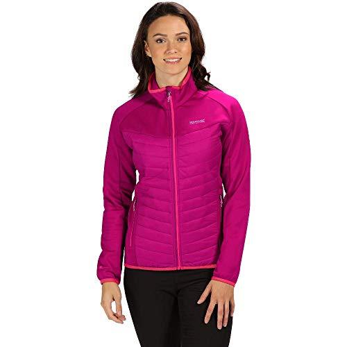 Regatta Damen Bestla Lightweight Water Repellent and Insulated Hybrid Down Jacke, Pink (dunkelkirsche/dunkelkirschfarben), 12