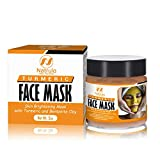 Natrulo Turmeric Face Mask - Skin Brightening Mask with...