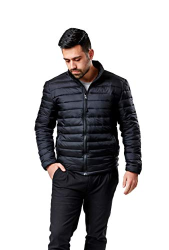Mens Black Puffer Jacket Black